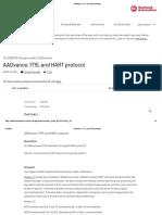 AADvance, 1715, and HART protocol