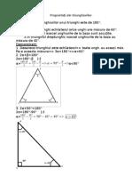 Proprietăți ale triunghiurilor