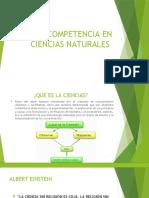 COMPETENCIA EN CIENCIAS NATURALES CLASE