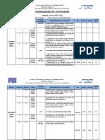 Distribución Programatica Plan Evaluacion Inglés I SAIA 2020-1