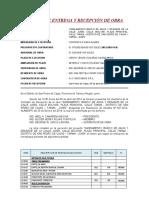 ACTA DE ENTREGA SANEAMIENTO SPDC ABELARDO 2016