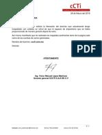 carta liberacion pagina ccti