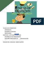 TECNICAS DE FORMACION
