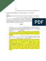 Derecho peticion modelo