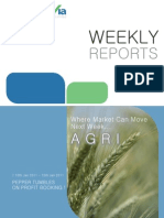 Agri Commodity Reports for the Week (10th - 14th January - 2011)