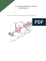 RESISTENICA DE MATERIALES. cargas combinadas