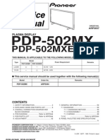 Pioneer plasma PDP-502MX - ARP3037