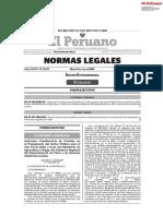 Decreto Supremo N° 139-2020-EF