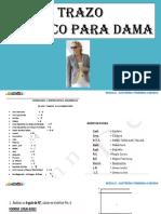 TRAZO DE SACO DAMA - ESPALDA