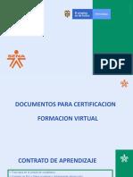 Documentos para Certificarse TG 2019