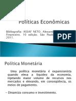 Macroeconomia - Políticas Econômicas