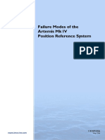 Failure Modes of the Artemis Mk IV Position Reference System