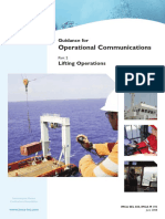 Guidance on Operational Communications - Lifting Operations