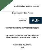 informe de planeacion de soporte tecnico