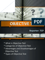 Objective Test Types 50 Slides