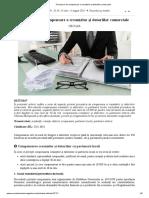 Procedura de compensare a creanțelor și datoriilor comerciale