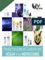 Productos para el Cuidado del HOGAR y las INSTITUCIONES