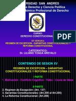 SESION 15 REGIMEN DE EXCEPCION, GARANTIAS Y REFORMA CONSTITUCIONAL