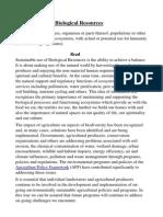 Bio Resources