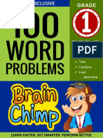 100 Word Problems  1st Grade Workbook For Ages 6 - 7