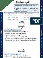 Aula 02 - 2ª Série - B02 Combinatória - Permutações e Combinações  I - Slides