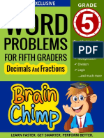 Word Problems For Fifth Graders - Decimals and Fractions   Ages 10  11, Grade 5