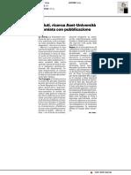 Rifiuti, ricerca Aset-Uniurb premiata da pubblicazione - Il Resto del Carlino del 9 giugno 2020