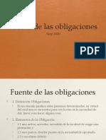 Fuente de las obligaciones(1)