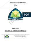 CFP Risk Analysis and Insurance Planning Study Notes Sample