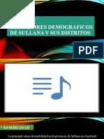 INDICADORES DEMOGRAFICOS DE SULLANA Y SUS DISTRITOS