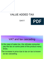 VAT at Different Stages of Sale
