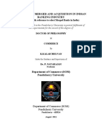 EFFICACY OF MERGER AND ACQUISITION IN INDIAN BANKING INDUSTRY - Scholar -Kalaichelvan, Commerce d