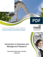 Introduction to Business and Management Research