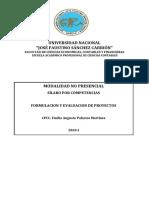 Silabo Formulacion Evaluacion de Proyectos 2020 I