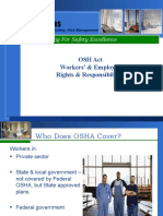 OSH Act - Workers' & Employer Rights & Responsibilities
