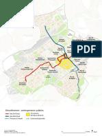 Carte aménagement cyclable Mulhouse