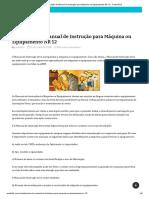 Elaboração de Manual de Instrução para Máquina ou Equipamento NR 12 - Portal R2S