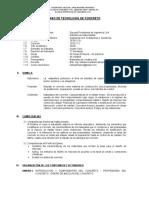 Sílabo - Tec. del Concreto - 2020 I