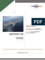 """Rapport de Stage """" TRAVAUX DE CONSTRUCTION DU QUAI A -18 MZH ET DES REMBLAIS HYDROULIQUE ET TERRESTRES"""""""
