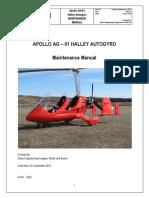 APOLLO AG – 01 HALLEY AUTOGYRO Maintenance Manual