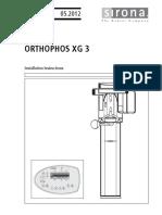 Orthophos XG 3, Installation manual
