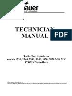 tuttnauer-m-mk-technical-manual
