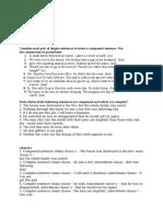 sentences exercise