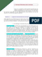 Chapitre I - Formes et fonctions de la monnaie