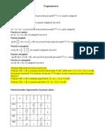 Trigonometrie Clasa a IX