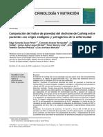Comparación del Índice de gravedad del síndrome de Cushing entre pacientes con origen endógeno y yatrogénico de la enfermedad