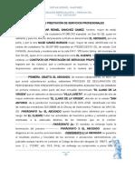 CONTRATO DE PRESTACIÓN DE SERVICIO