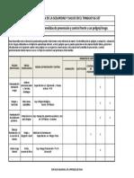 Matriz de jerarquización con medidas de prevención y control MM