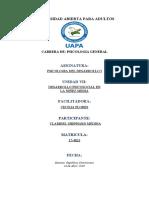 TAREA 7 PSICOLOGIA DEL DESARROLLO I