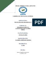 TAREA 6 PSICOLOGIA DEL DESARROLLO I